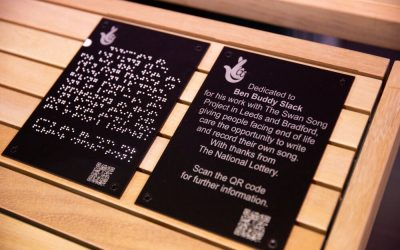 National Lottery & Jay Blades honours Swan Song with a Community Bench