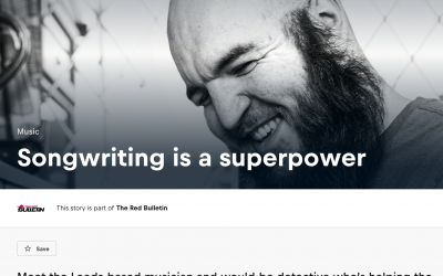 """""""Songwriting Is A Superpower"""" Swan Song in The Red Bulletin"""