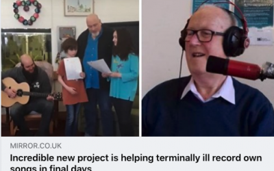 Incredible new project helps terminally ill record own songs in final days