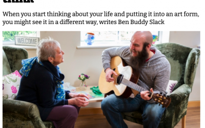 """'I help people who are dying write songs for their loved ones. It's a privilege – and changed the way I think"""" Swan Song in The I Paper"""