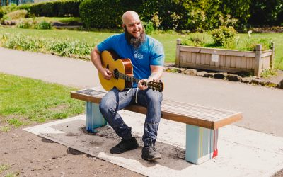 Swan Song bench unveiled in Meanwood Park